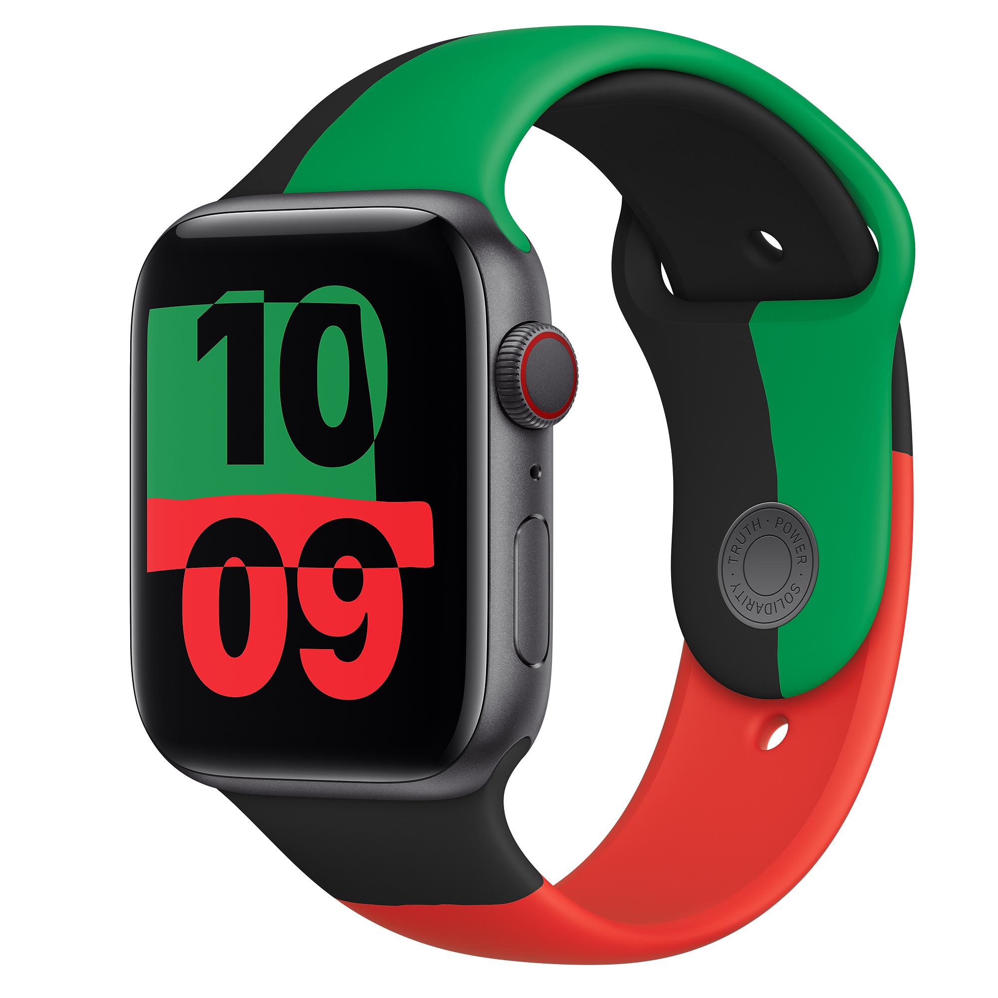 فروش نقدی و اقساطی ساعت هوشمند اپل سری ۶ مدل بلک یونیتی Black Unity 44mm