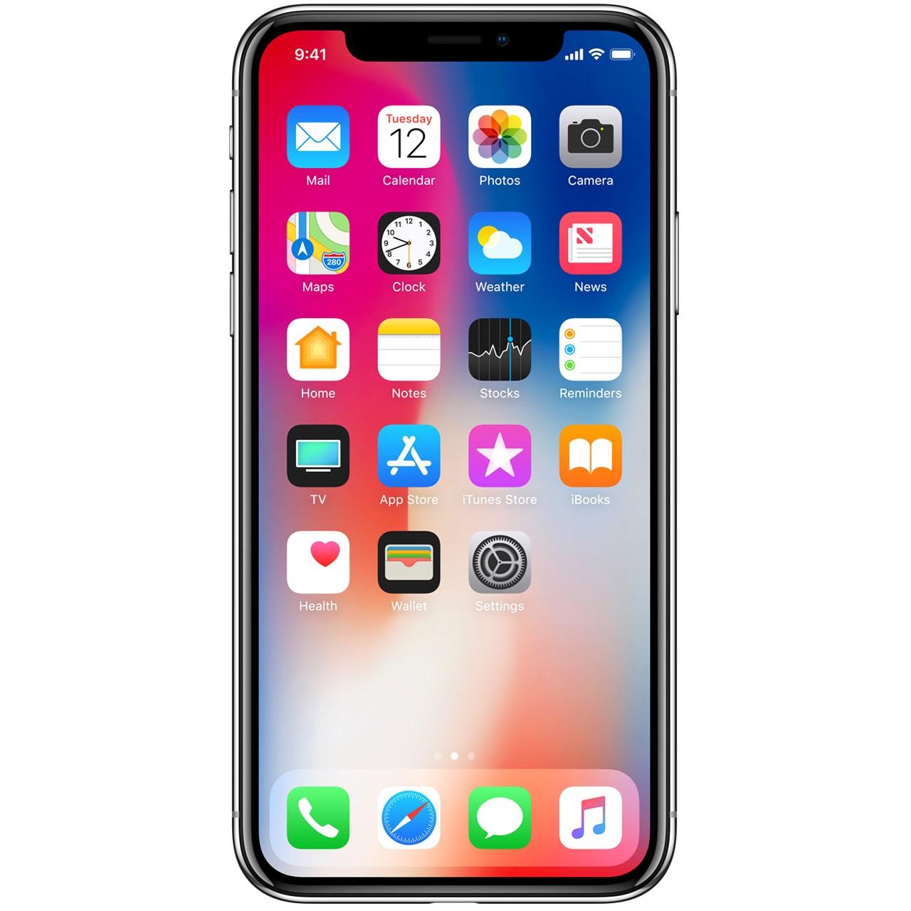 فروش اقساطي گوشي موبايل اپل مدل iPhone X ظرفيت 256 گيگابايت