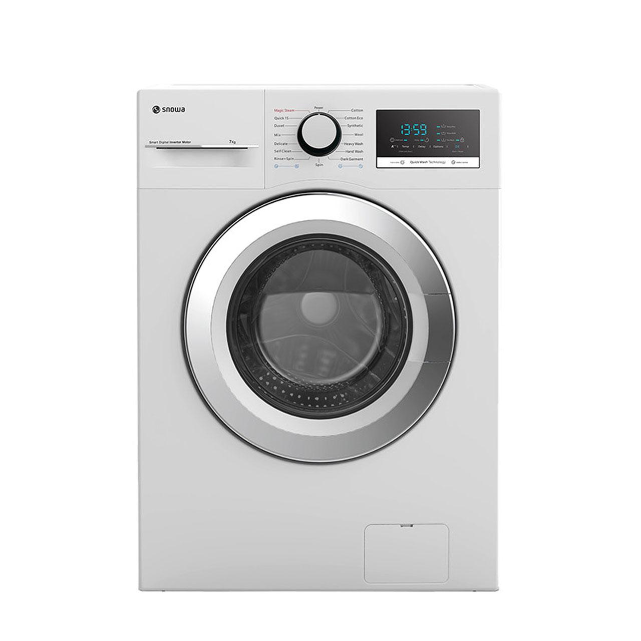 فروش نقدی و اقساطی ماشین لباسشویی اسنوا مدل SWM 72301 ظرفیت 7 کیلوگرم
