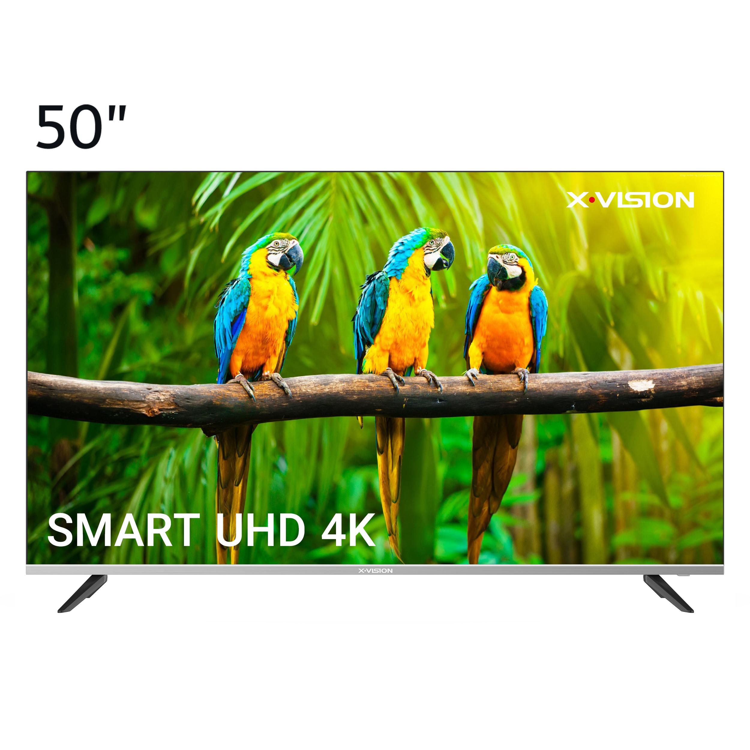 فروش نقدی و اقساطی تلویزیون ال ای دی هوشمند ایکس ویژن مدل 50XCU585 سایز 50 اینچ