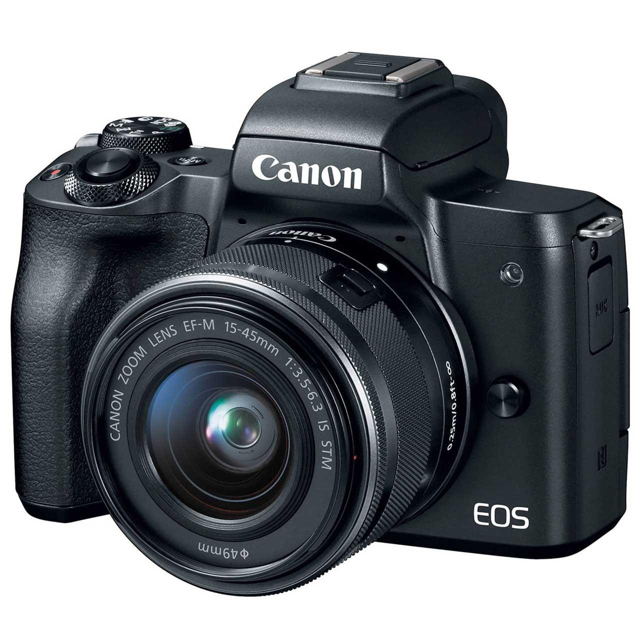 فروش نقدی و اقساطی دوربین دیجیتال بدون آینه کانن مدل EOS M50 به همراه لنز 15-45 میلی متر
