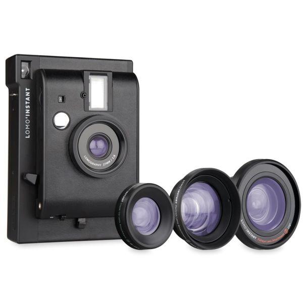 فروش نقدی و اقساطی دوربین چاپ سریع لوموگرافی مدل Black به همراه سه لنز