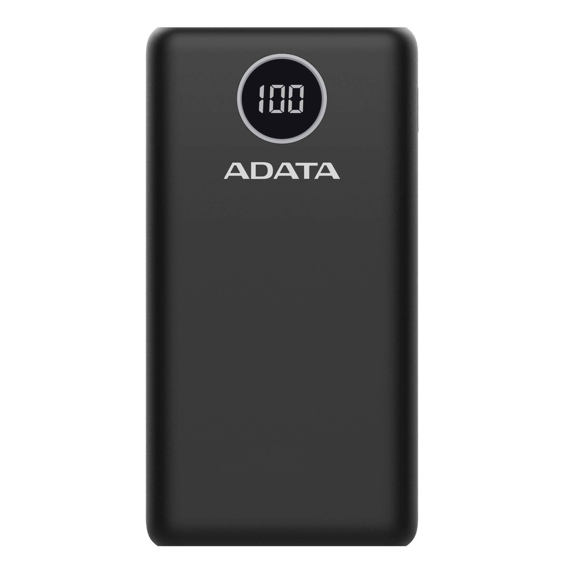 فروش نقدی و اقساطی شارژر همراه ای دیتا مدل P20000QCD ظرفیت 20000 میلی آمپر ساعت