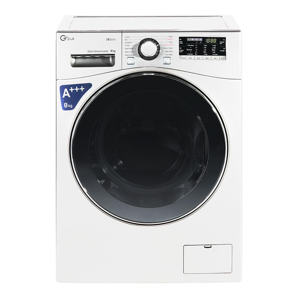فروش نقدی و اقساطی ماشین لباسشویی جی پلاس مدل GWM-L9645 ظرفیت 9 کیلوگرم